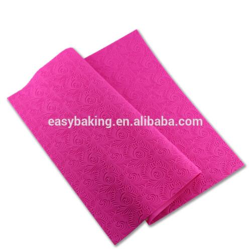Support Custom Printing Decoration Fondant Silicone Baking Cake Lace Mat