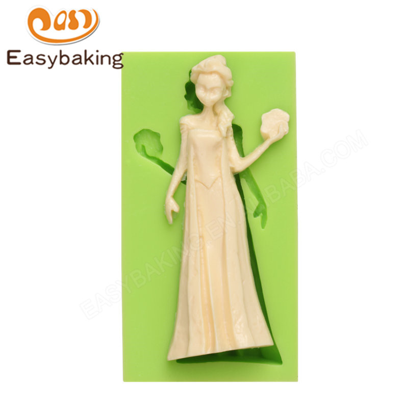 3D Frozen Themed Silicone Mould Fondant Craft Molds for Cake Decorating