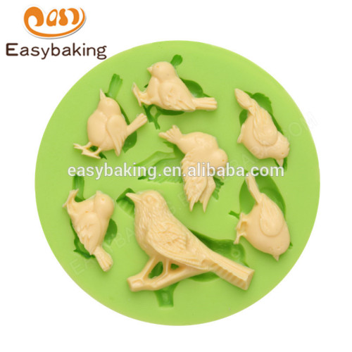 Factory wholesale new arrival custom made birds series round silicone molds