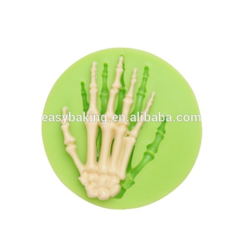 Factory price Halloween series skeleton hands shape silicone fondant cake decorating mold