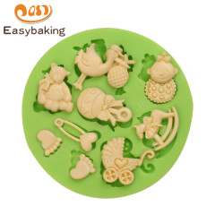 Baby party cute baby items silicone fondant cake decorating mold cake decoration