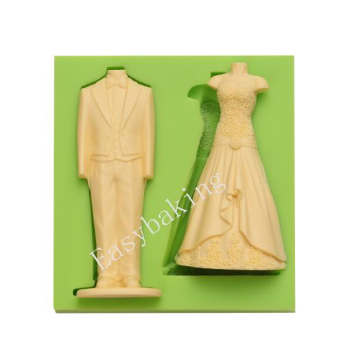 Cake Decoration Suit & Wedding Dress Silicone Mold
