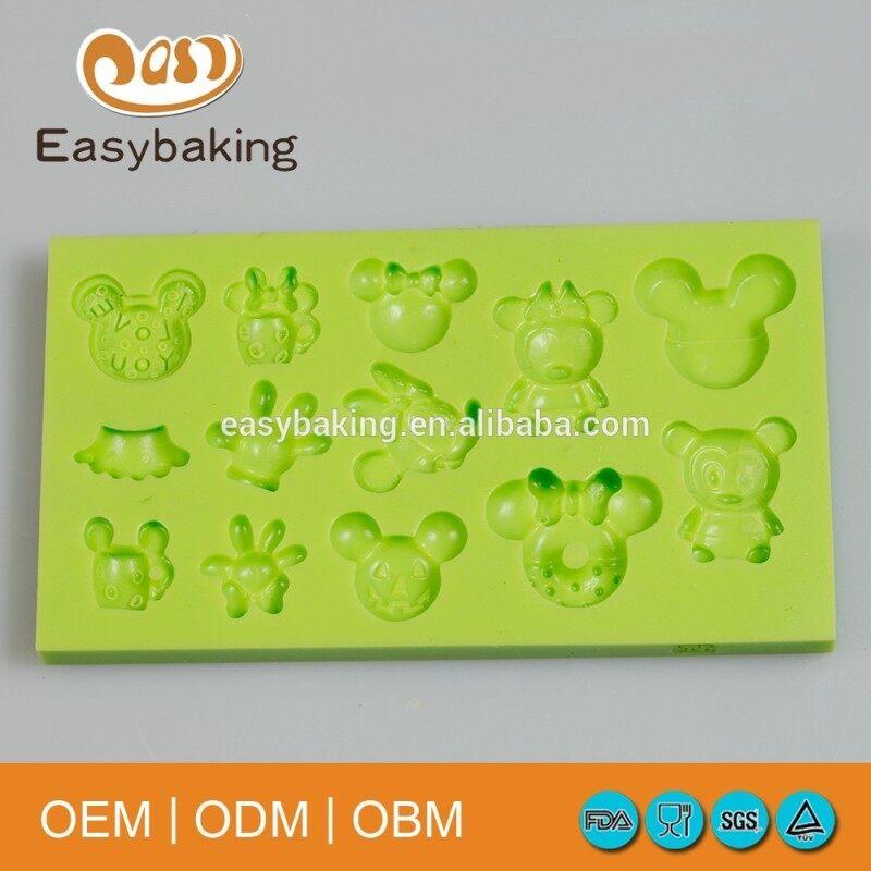 FDA LFGB Sugar Craft Tools Fondant Mould Mickey Mouse Cake Decorating