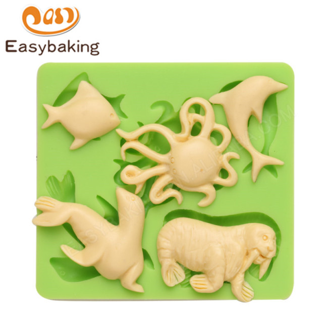 Ocean Animal Series Silicone Molds Sea Lion Dolphin Shaped