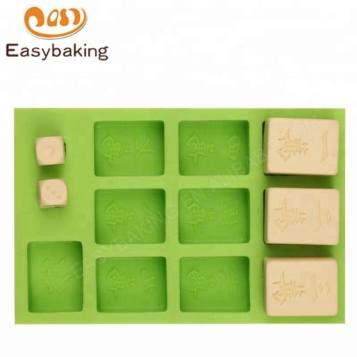 Big Size Mahjong Silicone Handmade Mould for Polymer Clay