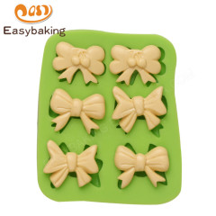 Six different mini bowknot silicone chocolate mould