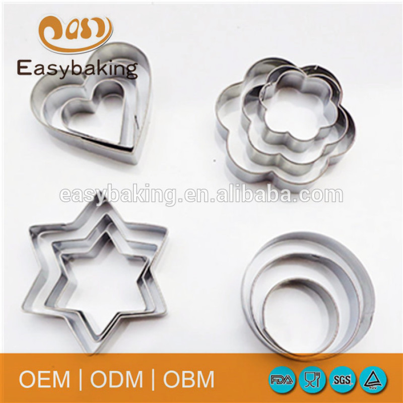 Hot sale different cute shape stainless steel cookie cutter set