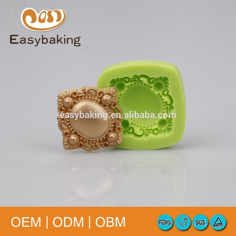 Low Price Gemstone Cake Decoration Jewellery Fondant Silicone Candy Mould