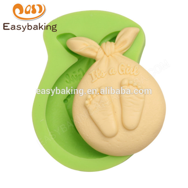 2017 creative design new arrival lovely baby sleeping silicone molds