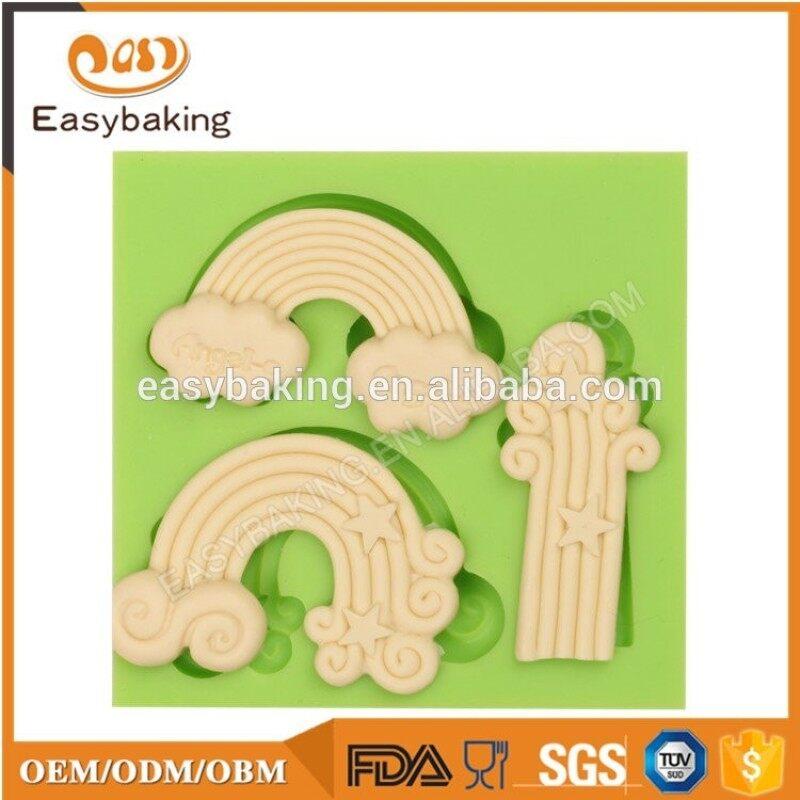 Fairy tail theme mushroom silicone cake decorating tools fondant molds