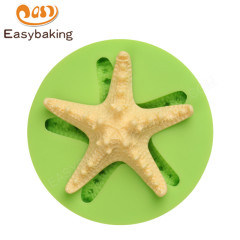 Starfish Ocean and Seashell Silicone Mold for Cake Decorating