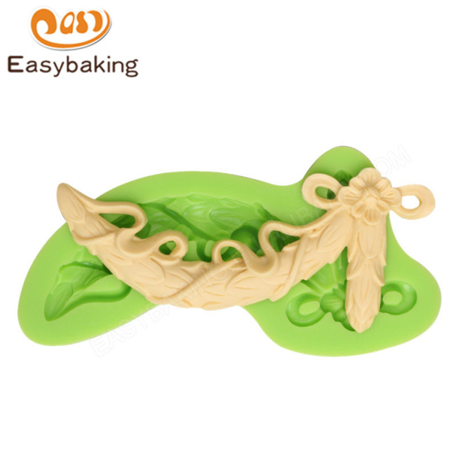 Baroque Style Curlicues Scroll Fondant Silicone Mold for Sugarcraft