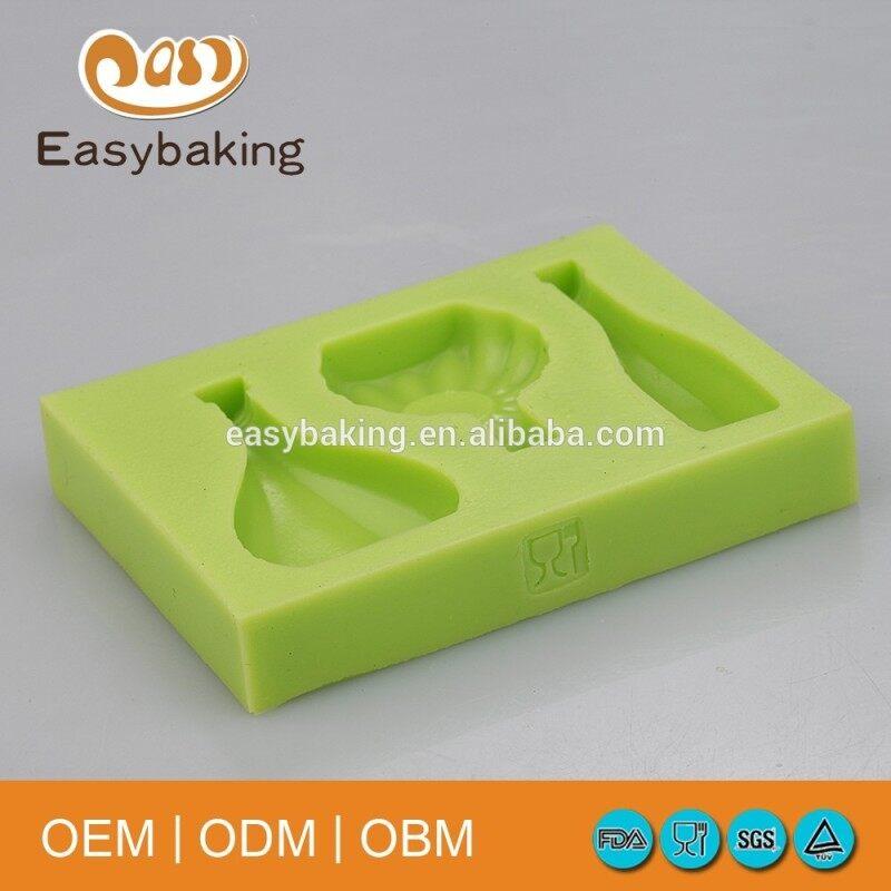 Wine bottle shape silicone rubber cake mold
