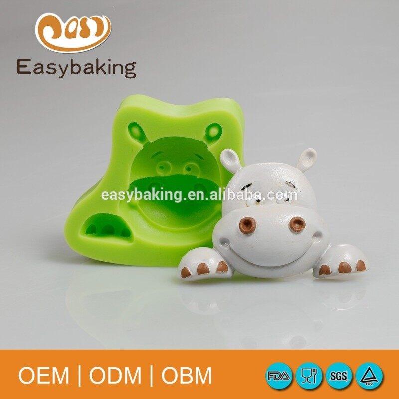 Hippo shape soap cartoon silicone cake mold