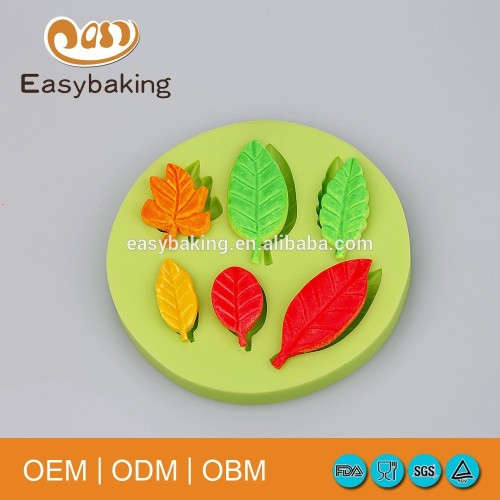 Best selling durable new arrival silicone leaves hand soap mold, cake silicone mold