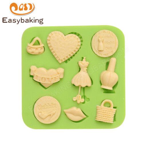 Fondant 3D Silicone Mould Cake Decoration Fondant Chocolate Icing Tools