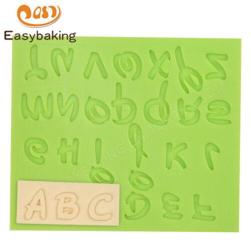 Alphabet shape fondant mold 3d silicone cake mould