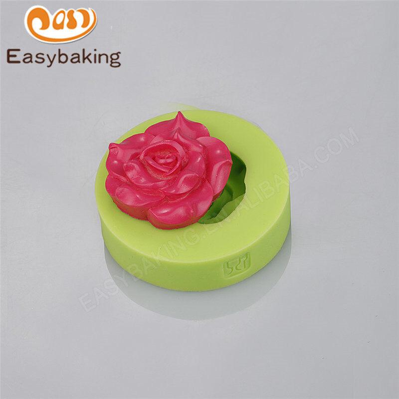 Fascinating rose shape cake silicone cake decoration molds for cupcake / fondnat cake