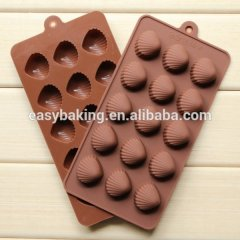 Hot sale creative shells silicone chocolate mould 3d cupcake mold