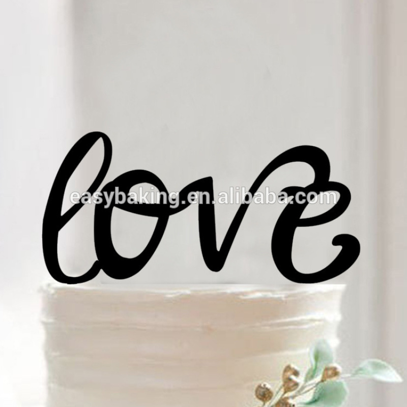 Love Shaped Cake Topper Wedding Birthday Party Decorating Appliance