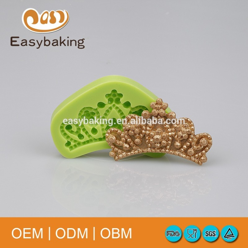 Wedding Cake Decorate Silicone Queen Crown Molds