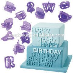 26 Pcs Alphabet Letter Cookie Cutters Cake Decorating Sugarcraft Chocolate Mould