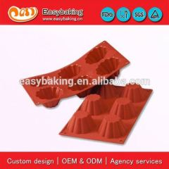 Custom Cheap 6 Cavities Briochette Molds Cake Silicone Icing Cookware