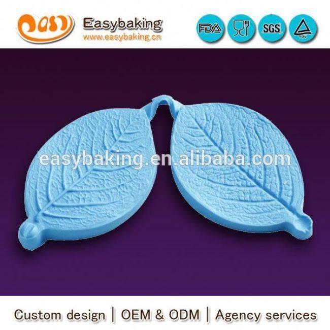 2014 new product medium veiner rose leaf custom slicone mold for fondant