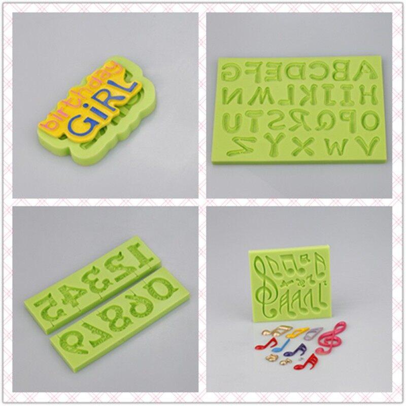 Heart Shape Capital Arabic Letters Silicone Fondant Molds
