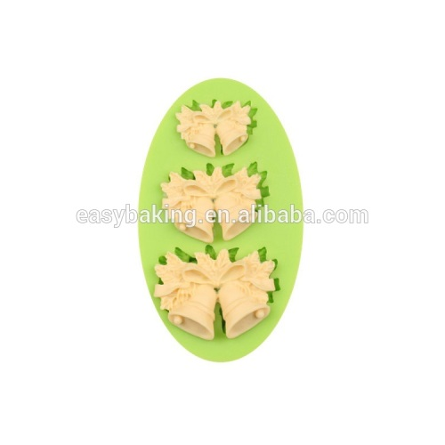 Christmas series small bell shape silicone fondant molds cube cake decoration