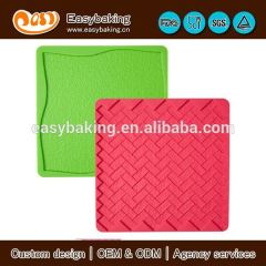 Reusable 2 Pack Imprinted Silicone Brick Mat Plate