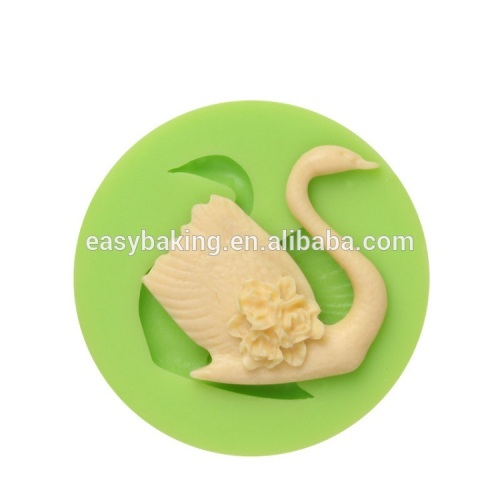 New product FDA swan silicone mold for fondant cake