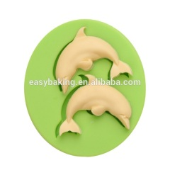 Wholesale 3D dolphin muffin silicone molds cake decoration