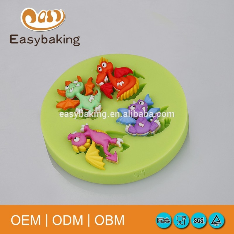 Diy Polymer Clay Cake Dinosaurs Silicone Molds