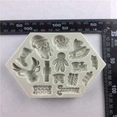New Item Christmas Theme Cupcake Decoration Silicone Mold