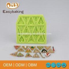 Triangle Multi Football Perimeter For Cake Decoration & Jewelry Silicone Fondant Molds