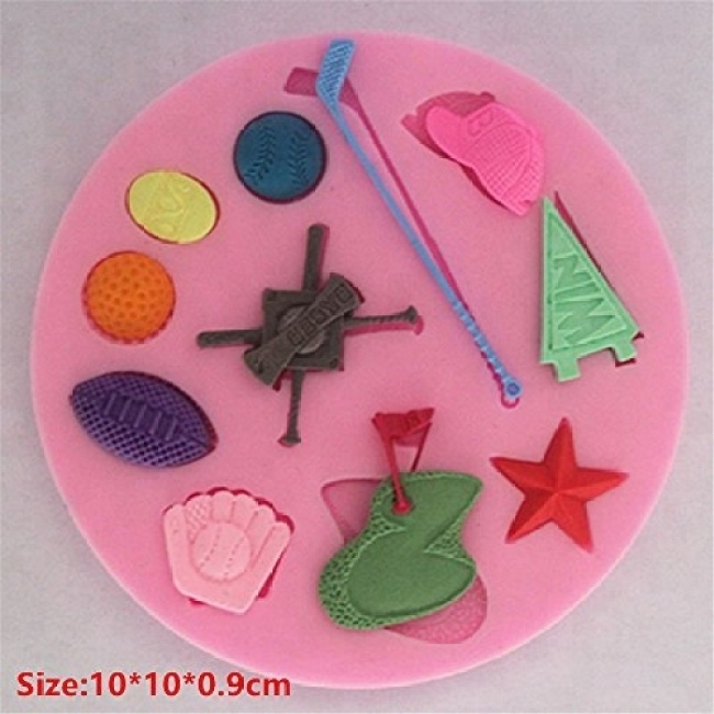 Golf - Silicone Icing Moulds for Cake and Cupcake Decoration