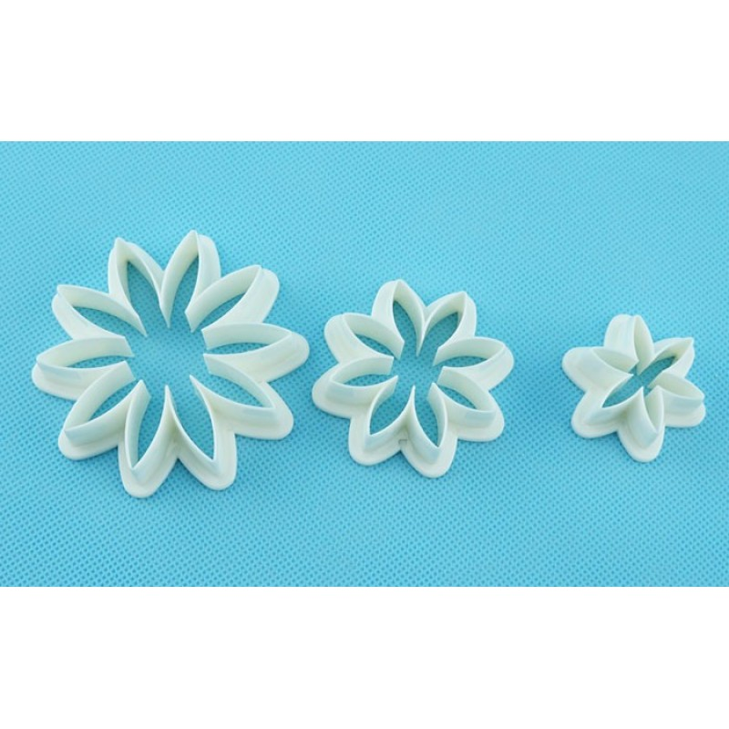 Holiday Cake Decorating Tools Sun Flower Plastic Cutter Cookie