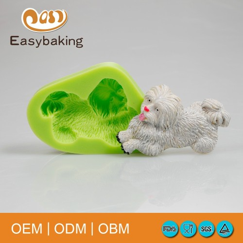 Running Puppy Shaped Cute Silicone Soap Molds Muffin Mould