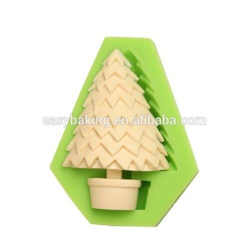 Hot selling Christmas series Christmas tree shape silicone ice molds cake decoration