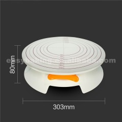 Pastry Rotating Dessert Tools Plastic Cake Turntable With Size/Cake Stand