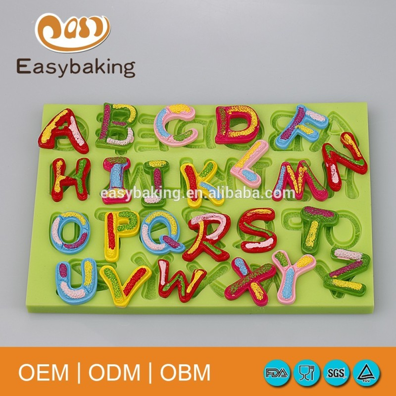 Shopping Online Websites Non-Stick Chocolate Candy Cake Decorations Letter and Numbers Silicone Mold