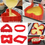 4pcs Magic Bake Snake Cake Silicone Mold for cake DIY