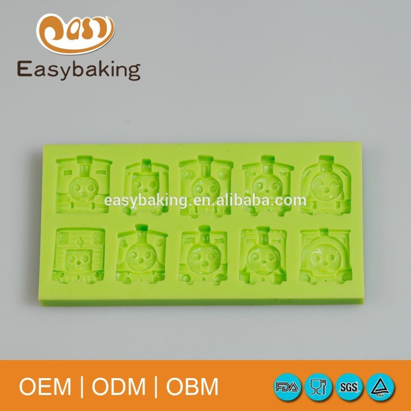 Arrival Item 8 Cavities Thomas Trains Cake Decorating Fondant Silicone Mould