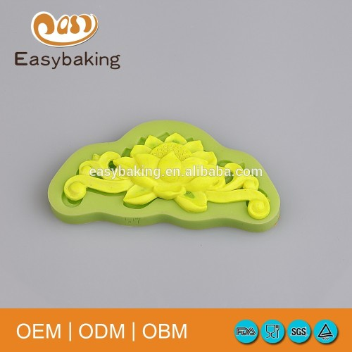 European Style Lotus Shaped Silicone Molds For Cake Decoration