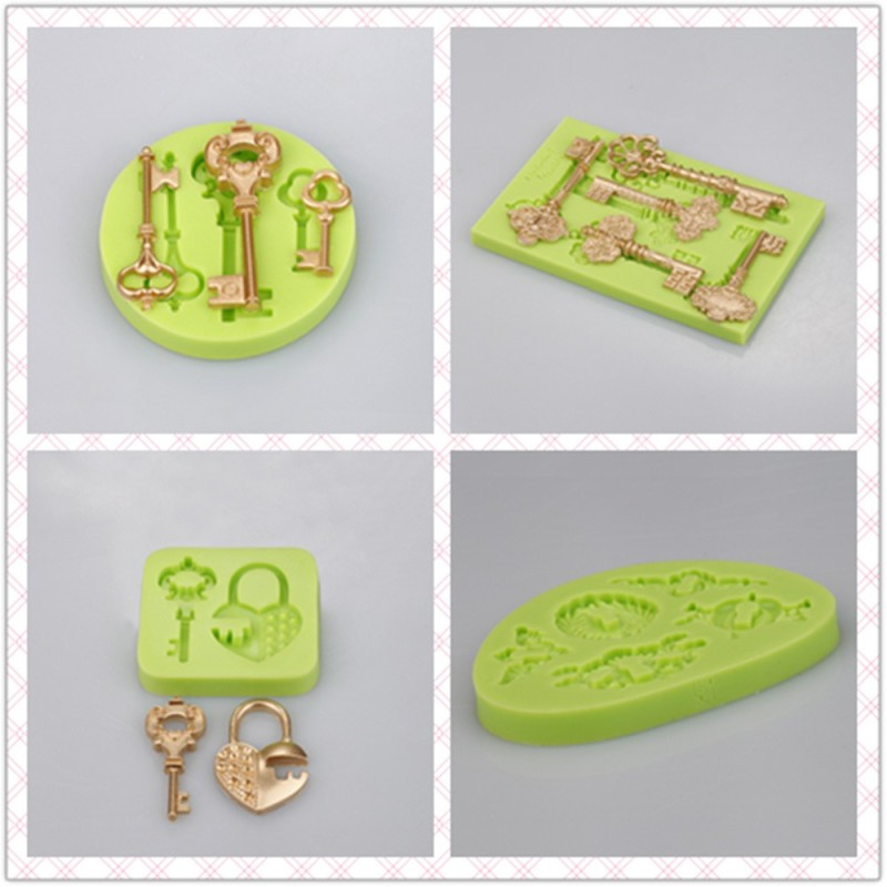 Green Silicone Mold Little Angel for Cake Decoration