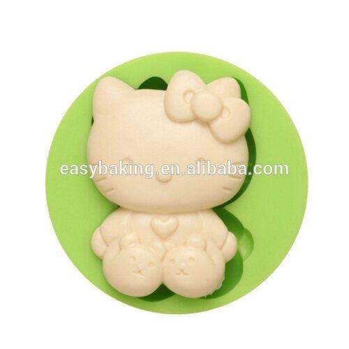 Cute cartoon series Hello kitty shape silicone soap molds fondant cake decoration