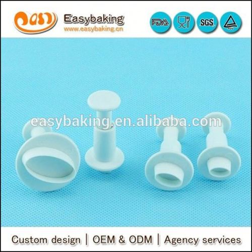 Set of 4 PME Fondant Cake Decorating Tools Oval Plunger Cutters