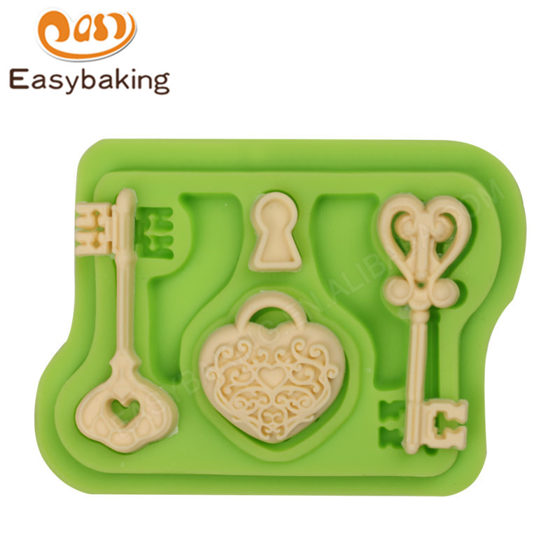 3d key silicone fondant cake  icing molds for fondant decoration