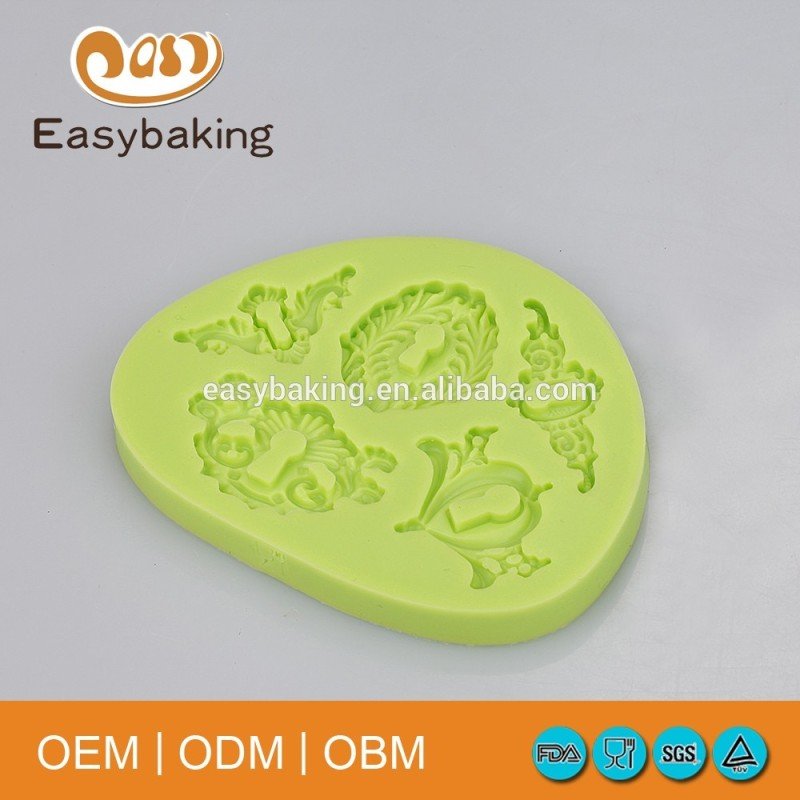 Arrival Retro Padlock Locker Decorations Silicone Molds For Cake Clay